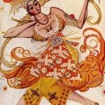 "Танцовщица из балета ""Жар-птица"". 1910."