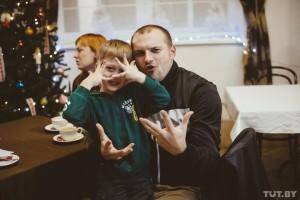 АХ Муж актрисы Сергей Руденя и сын Степа, Минск, 2015 год